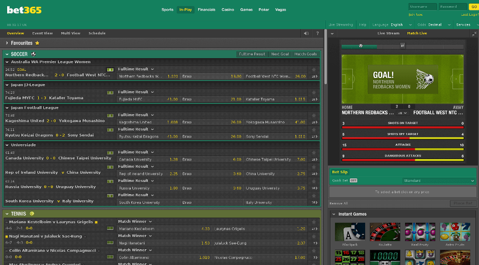 in-play feature bet365