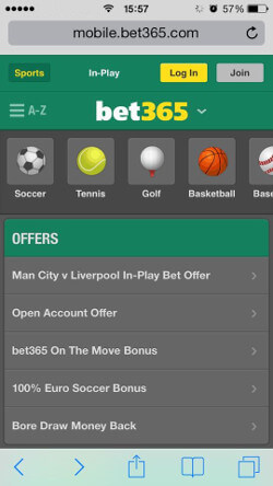 Bet365 mobile offers new account