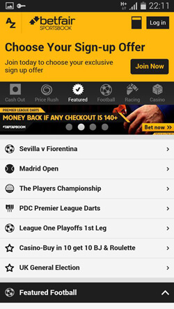 betfair exchange games mobile