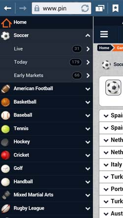 Pinnacle Sports Mobile for Android