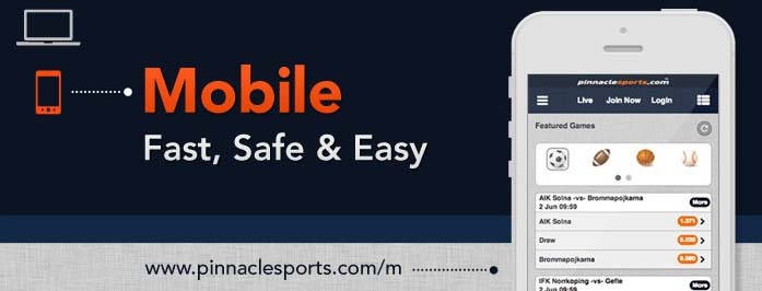 pinnacle sports mobile app and website