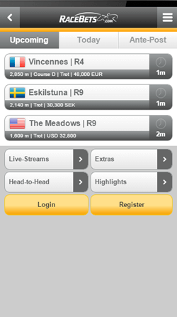 racebets android mobile app