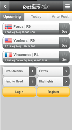 racebets mobile app for iphone