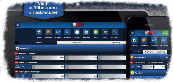 10bet mobile apps and version