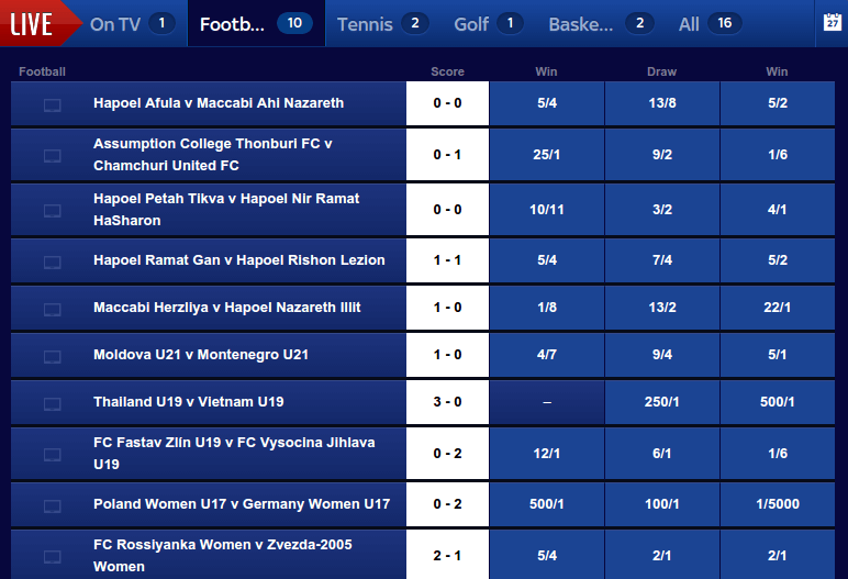 live betting at skybet