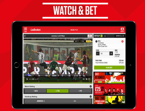ladbrokes ipad app features