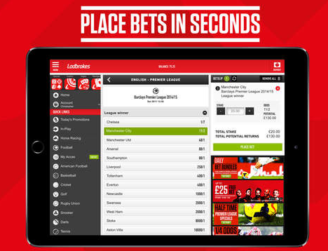 Ladbrokes Ipad mobile app