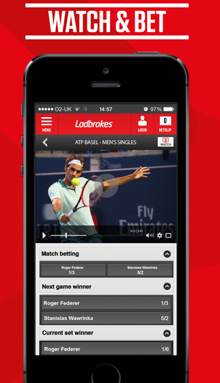 Ladbrokes live betting - iphone app