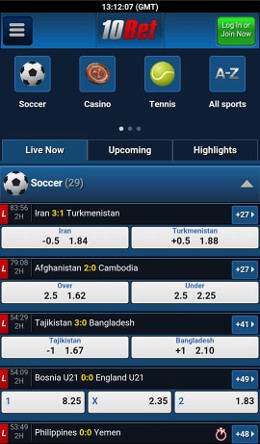 10bet mobile app android