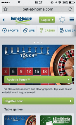mobile casino on iphone device