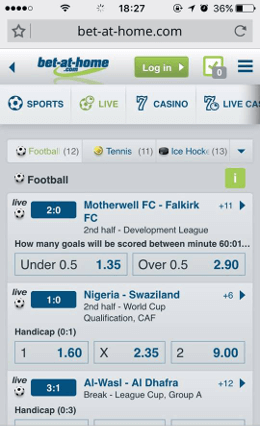 bet at home application - live betting iphone
