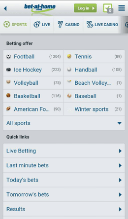 bet at home all available mobile sports