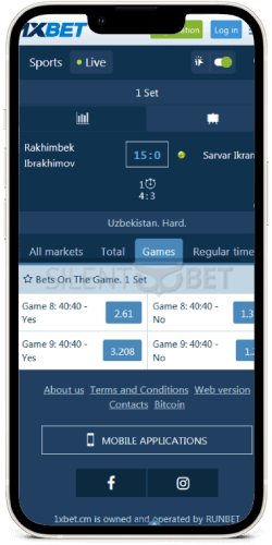 in play betting on iphone app