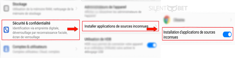 android installer des sources inconnues