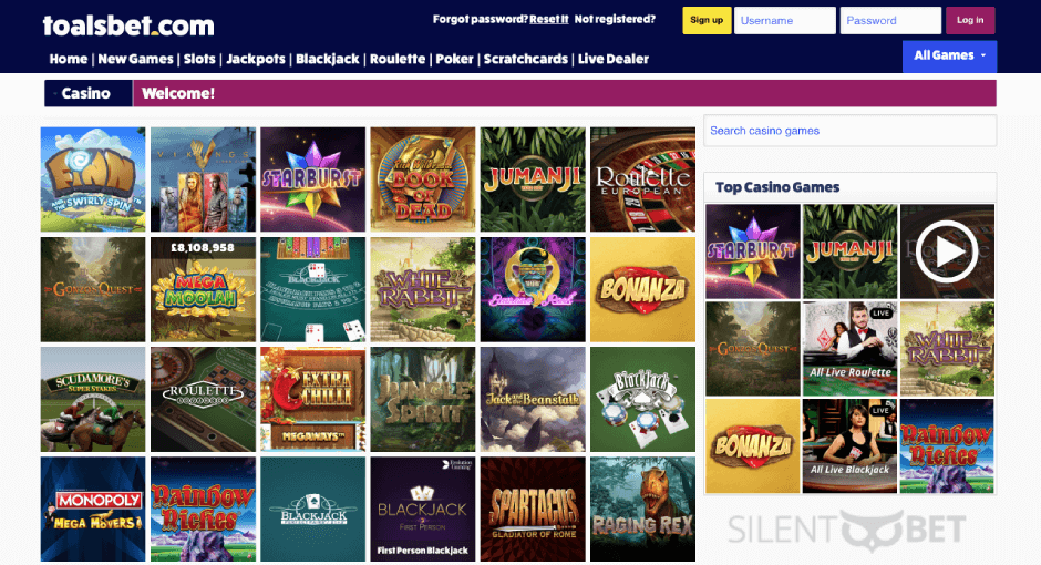 online casino at toals