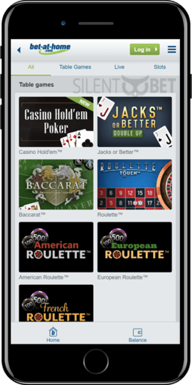 bet at home ios app casino games