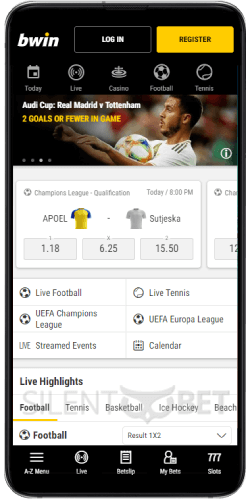 Sports Sectioin in Bwin's Android App
