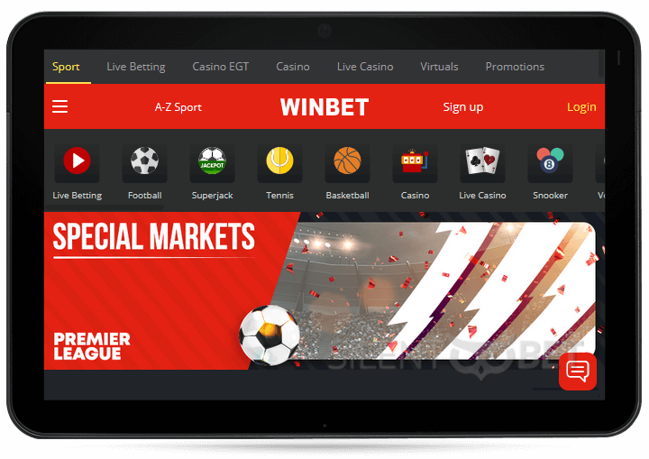 Winbet on your tablet