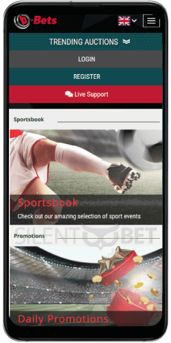 b-Bets mobile version