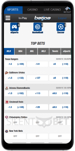 BetJoe mobile sports betting through Android