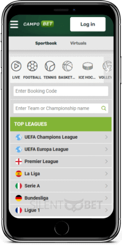 CampoBet mobile sports betting on iPhone