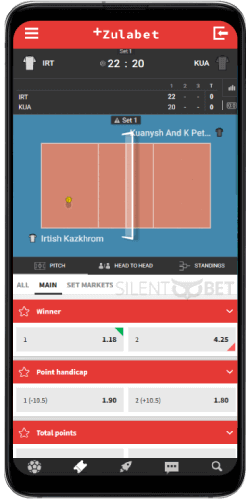 ZulaBet mobile live betting thru Android