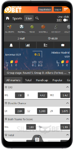 Doublebet mobile live betting on Android