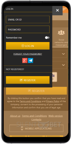 DoubleBet mobile login thru Android