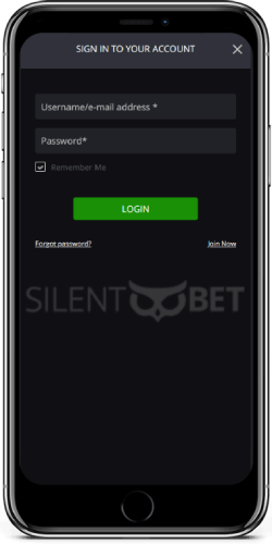 Luckybet mobile login on iPhone