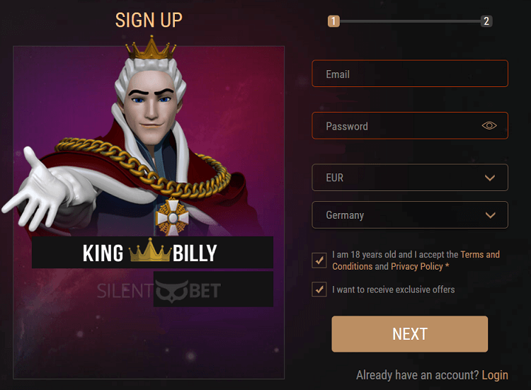 King Billy Casino Review Vip Rewards Pros Cons Rating 2020