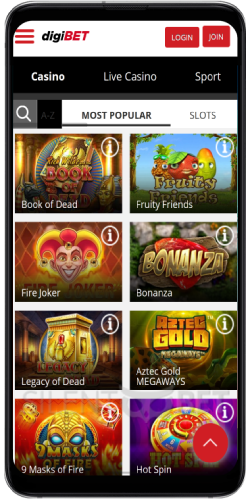 Digibet Casino on Android