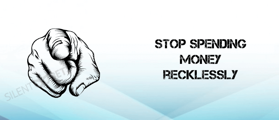 Stop spending reckelessly cover