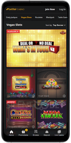 Betfair mobile vegas slots in the Android casino