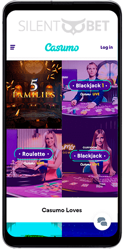 Casumo mobile casino app for Android