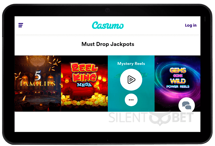 Casumo mobile version of casino for tablet