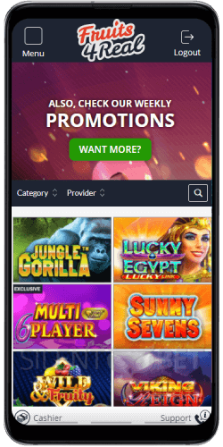 Fruits4Real Mobile Casino