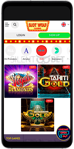 Slot Wolf casino app for Android