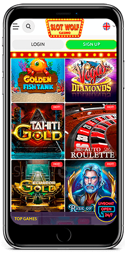 Slot Wolf casino games for iOS