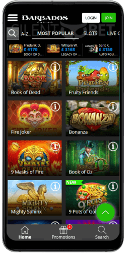 Barbados Casino Games on Android