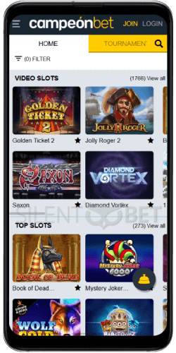 Campeonbet Casino Games on Android