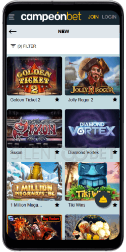 Campeonbet Casino New Games on Android