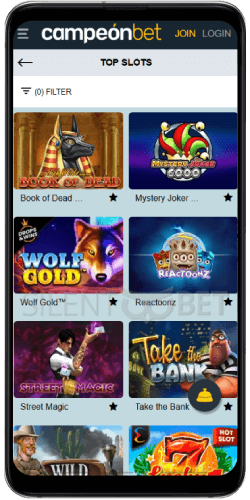 Campeonbet Casino Slots on Android