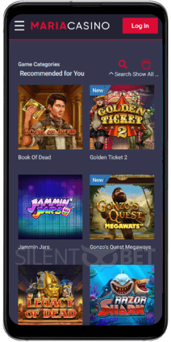 Maria Casino Recommended Games on Android