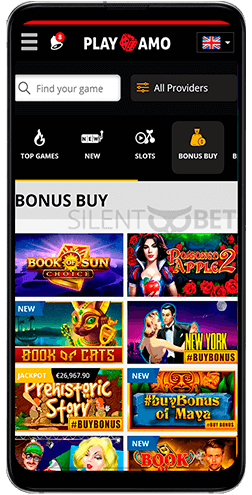 Playamo mobile casino games for Android