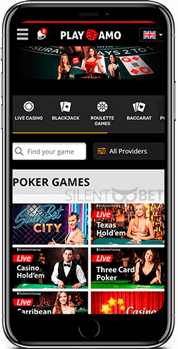 Playamo mobile poker games for iOS