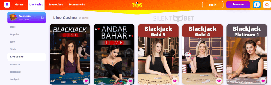 7Signs Casino Live Games