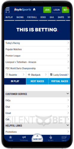 Boylesports app for Android