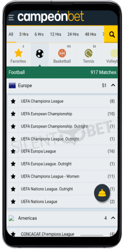 campeonbet android app sports