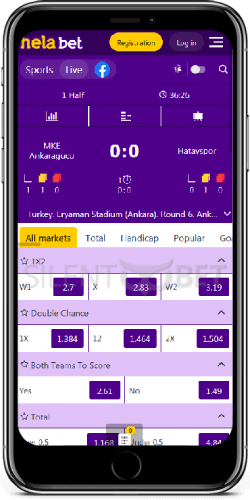 Helabet mobile live bets on iOS app