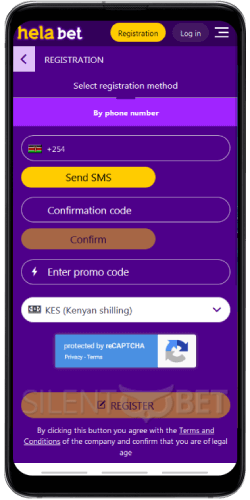 Helabet mobile signup Android
